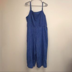 Old navy Denim jumpsuit with cinched back size XL